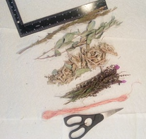 Smudging Stick Tools and Herbs