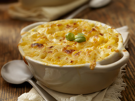 Baked Macaroni and Cheese with Fresh Basil-Photographed on Hasselblad H3D2-39mb Camera
