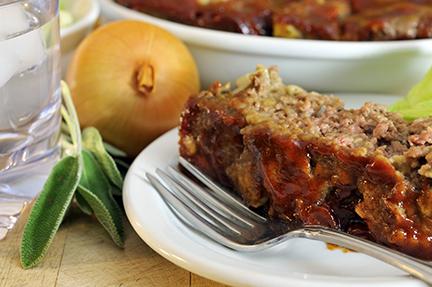 Sage Meatloaf Serving